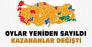 Türkiye'de birçok yerde oylar yeniden sayıldı-Kazanan partiler değişti