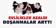 Türkiye'de boşanmalar arttı evlilikler azaldı