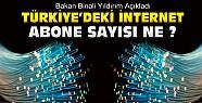 Türkiye'de İnternet Abone Sayısı Ne ? Bakan Yıldırım Açıkladı