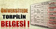 Üniversitede Torpilin Resmi Belgesi