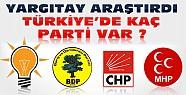 Yargıtay Araştırdı:Türkiye'de Toplam Kaç Siyasi Parti Var ?