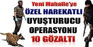 Yeni Mahalle'ye Özel Harekatlı Uyuşturucu Operasyonu: 10 Gözaltı