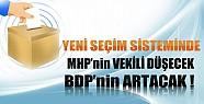 Yeni Seçim Sisteminde MHP'nin Vekili Düşecek, BDP'nin Artacak!