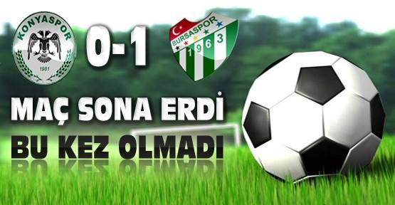 Torku Konyaspor Bursaspor Maç Sonucu