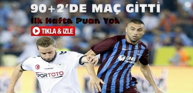 Trabzonspor-Atiker Konyaspor Maç Sonucu-VİDEO
