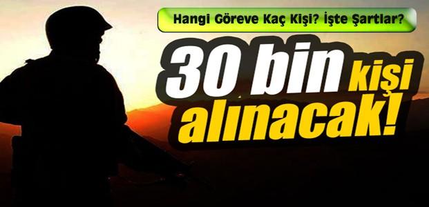 TSK'ya 30 Bin Asker Alınacak-İşte İhtiyaçlar