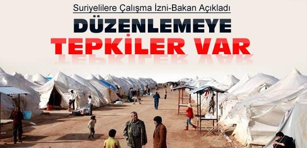Türkiye'deki Suriyelilere Çalışma İzni
