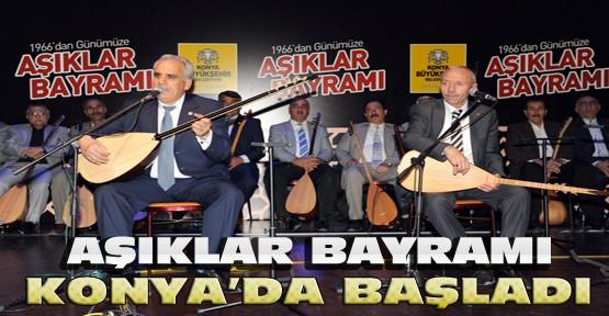 Türkiye'den Gelen 28 Aşıkla Aşıklar Bayramı Konya'da Başladı