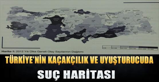 Türkiye'nin Uyuşturucu Ve Kaçakcılıkta Suç Haritası