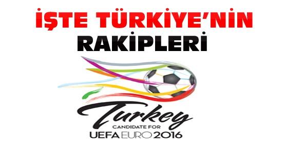 UEFA EURO 2016'da Türkiye'nin Rakipleri Belli Oldu