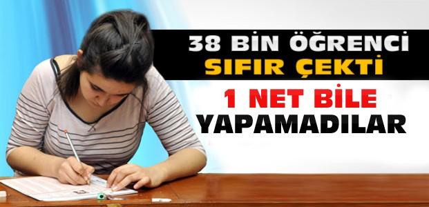 YGS'de 38 Bin Öğrenci Sıfır Çekti
