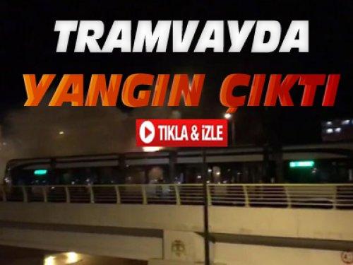 Konya'da Tramvayda Yangın