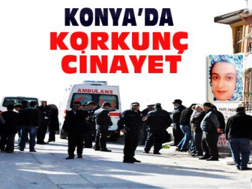 Konya'da-Karısının Boğazını Kesip İntihar Etti